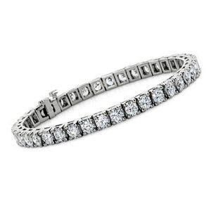 3.30 Carats round diamond ladies bracelet white go